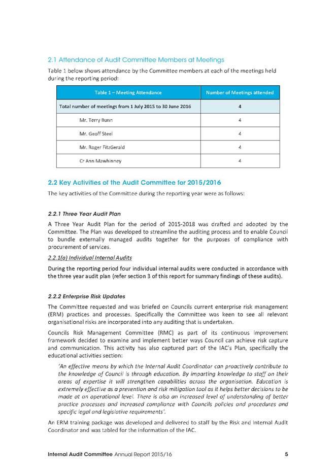 Agenda Of Council - 23 November 2016